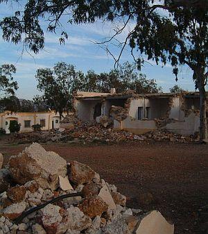 Nur noch Ruinen: Die einst so belebte Siedlung der Minenarbeiter wurde  zerstört.