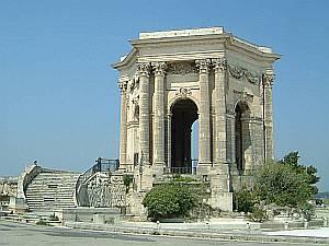 Vom Park von Peyrou aus ist ein weiter Blick über Montpellier möglich.