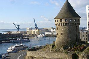 Der Turm Tanguy bewahrt die Erinnerung an Brests  Geschichte.